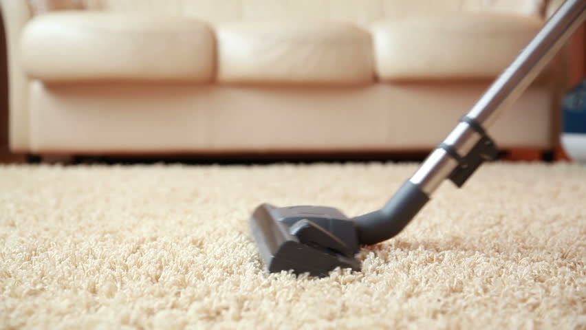 Vacuum Cleaner Cleaning The Carpet Dolly Shot Stock Footage Video 7078660