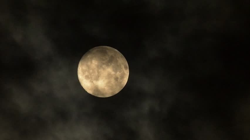 Full Moon with clouds changing. | Shutterstock HD Video #7083418