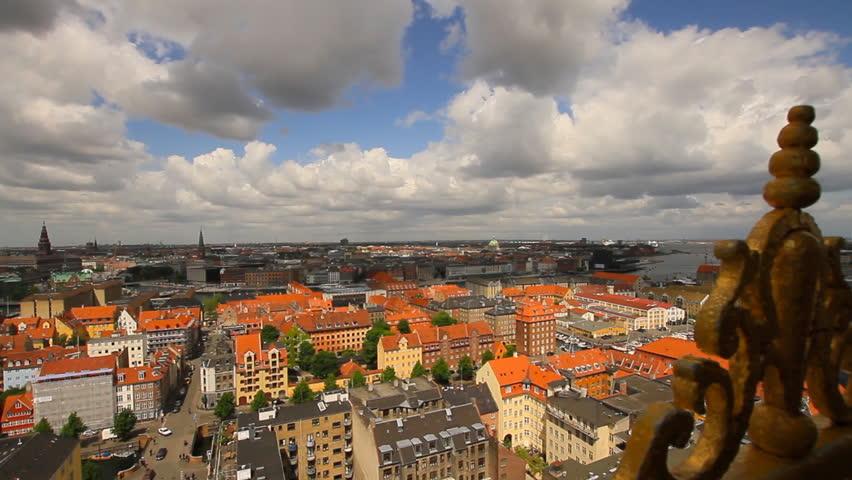 Copenhagen, Denmark, April 2012 - Cityscape of Copenhagen, Denmark.
