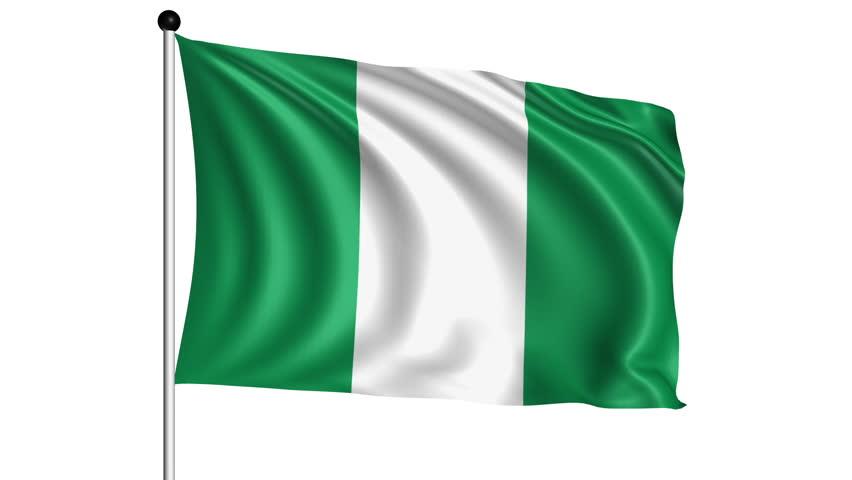nigeria shining waving flag - hd loop stock footage video 904450