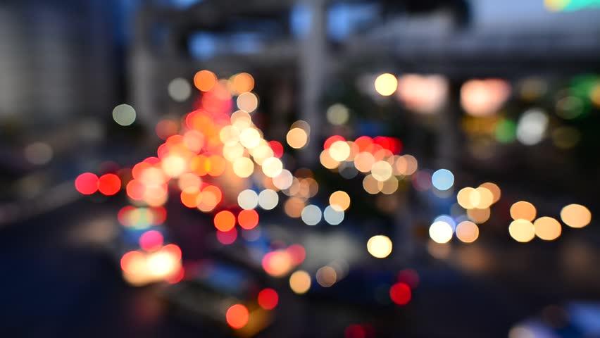 Bokeh from car light on the traffic road | Shutterstock HD Video #7103950