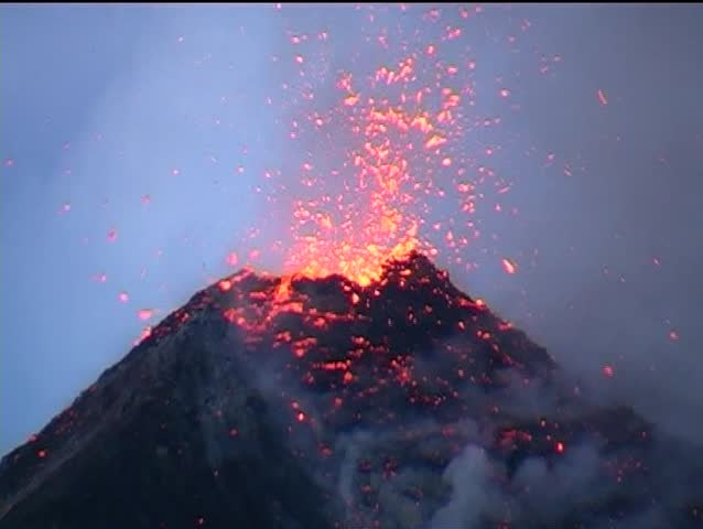 Volcano  with Eruption, Fuego in Guatemala