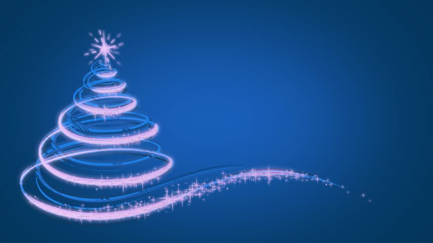 Animated Christmas Tree On Blue Stock Footage Video 100 Royalty Free 7121710 Shutterstock