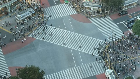 Time-lapse Shibuya cross-walk