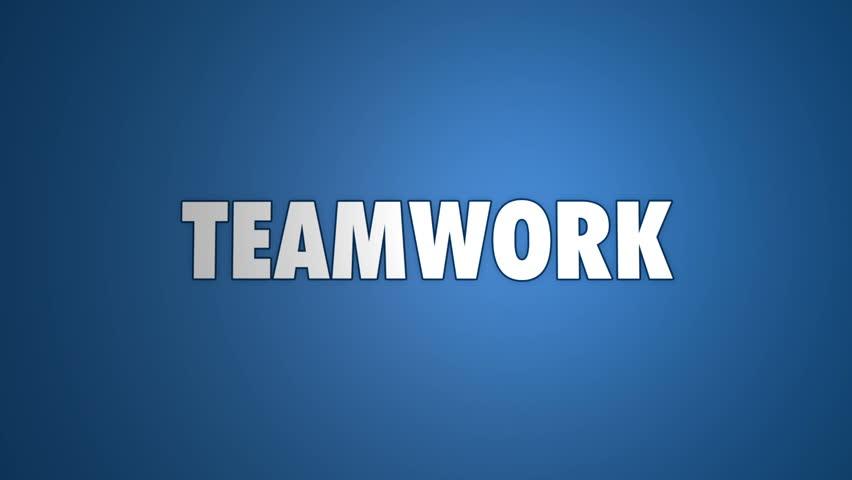Teamwork - jigsaw pieces assembling