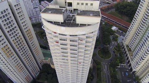 Aerial view of Heartland neighborhood in Singapore
