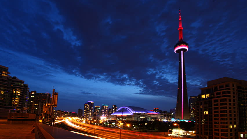 4K UltraHD A timelapse view of Toronto, expressway and buildings | Shutterstock HD Video #7185460
