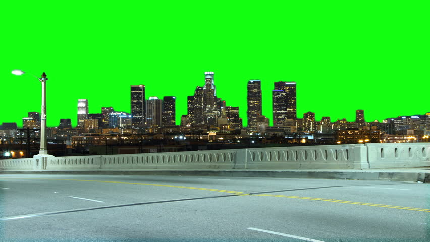downtown los angeles green screen stock footage video  100  royalty