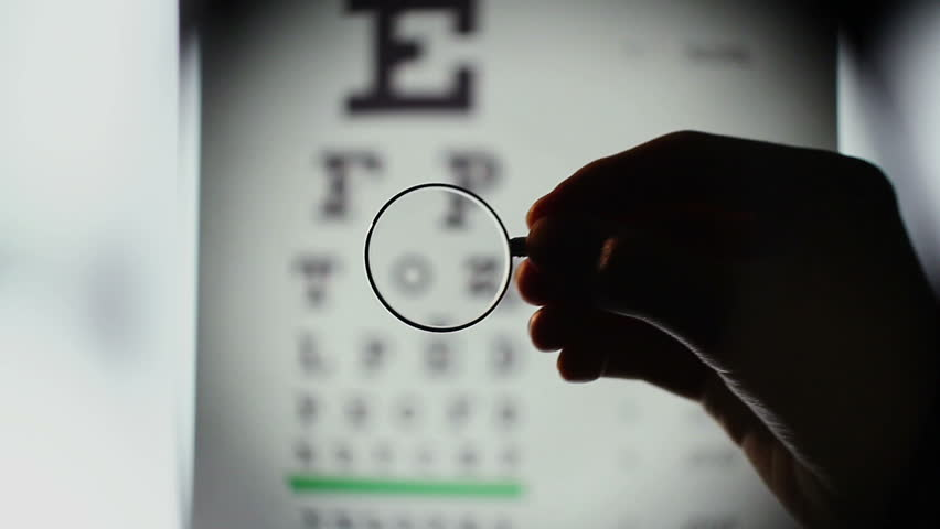 Eyesight examination, optometrist choosing lenses for glasses. Patient looking at table with letters, doctor helping person to see better through spectacles. Eyesight check at ophthalmology clinic #7207780