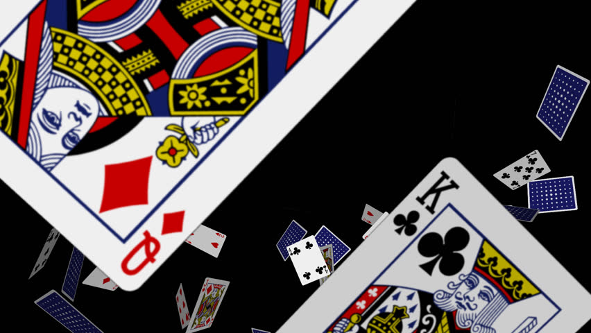 Playing Cards Explosion - 1 - 30 fps - Exploding poker deck as intro, transition, logo or title revealer related to casino, gambling, sport, fortune, crime, trick, magic... Transparent 3D animation...