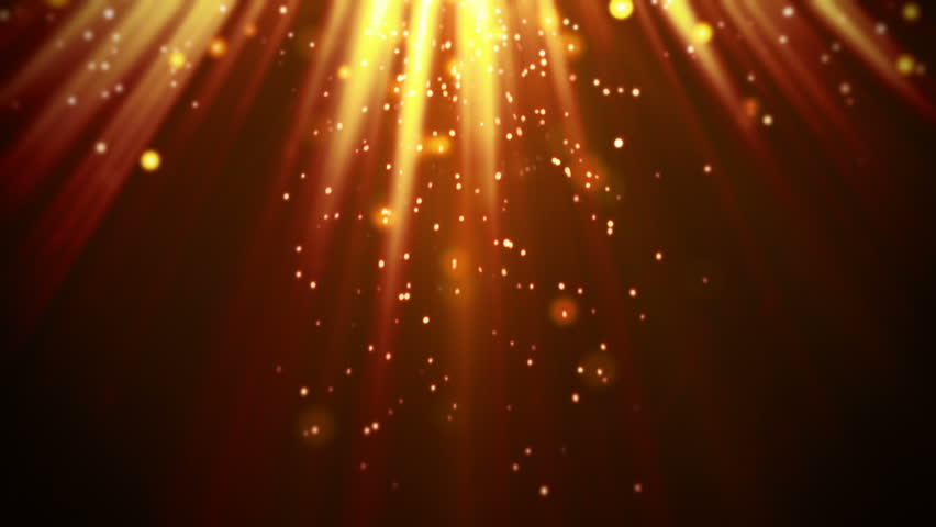 Magic orange light rays and particles loop  | Shutterstock HD Video #7321750