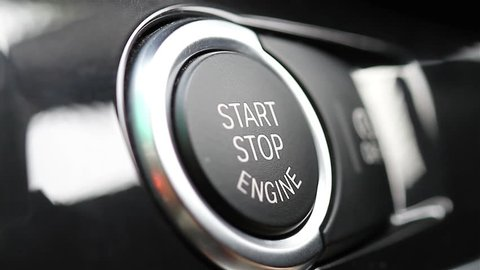 Starting and stopping the engine of a car