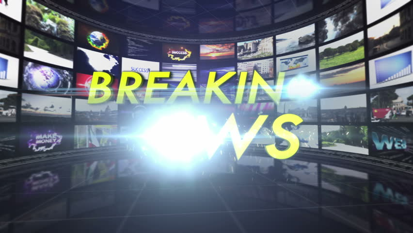 Breaking News Text in Monitors Tunnel | Shutterstock HD Video #7377190