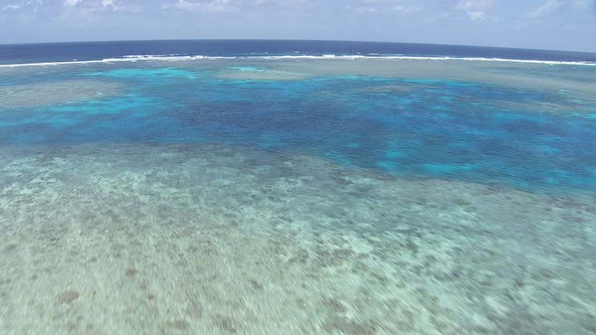 Aerial view of the Great Barrier Reef #7384444
