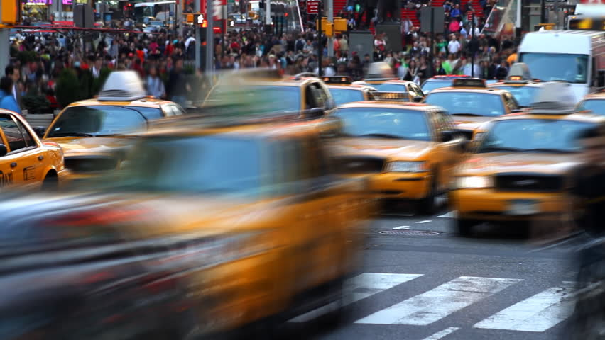 Time lapse of city traffic and pedestrians | Shutterstock HD Video #741082
