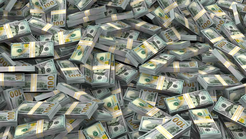 Millions of dollars in new hundred dollar bills | Shutterstock HD Video #741220