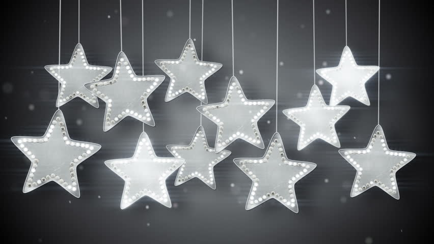 silver hanging stars christmas lights stock footage video 100 royalty free 7508440 shutterstock