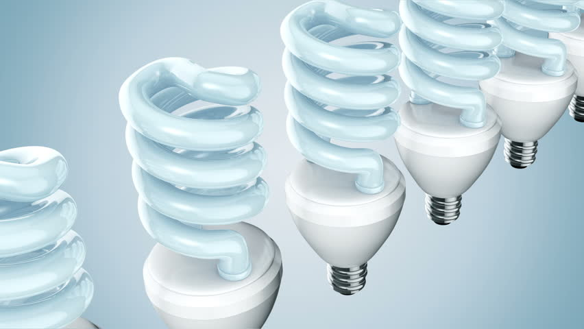 Spiral shape CFL light in colorfull background. | Shutterstock HD Video #7508530