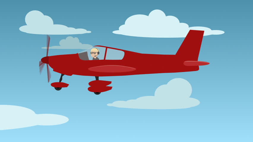 hd001501786 illustration of man travelling in red aircraft