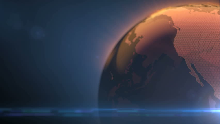 Rotating earth with world map | Shutterstock HD Video #7542640