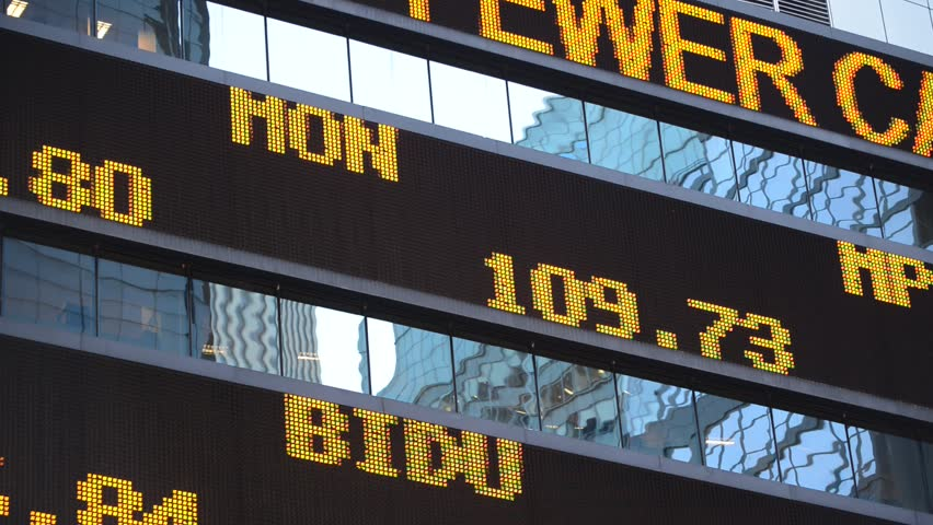 Stock market scrolling ticker with quotes | Shutterstock HD Video #7553437