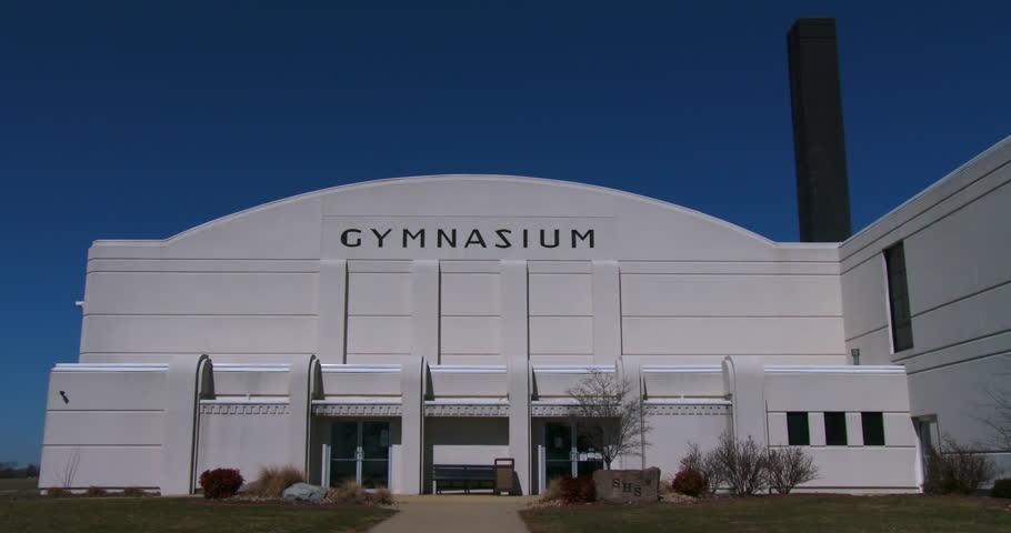 CIRCA 2014 - A classic 1950's style high school gymnasium.