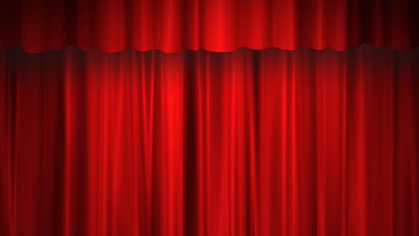 Red curtain opens | Shutterstock HD Video #759820