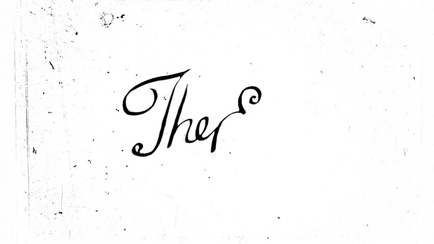 "Vintage ""The End"" animation. Old style typography, HD."