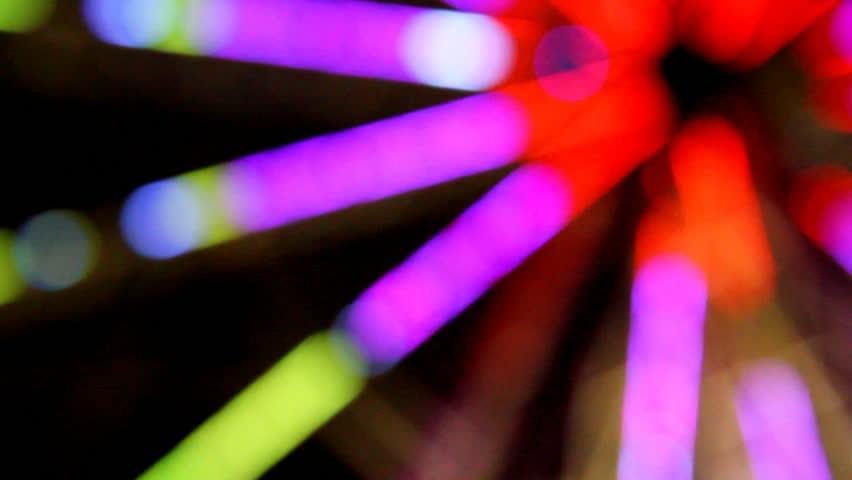 Defocused colorful lights.