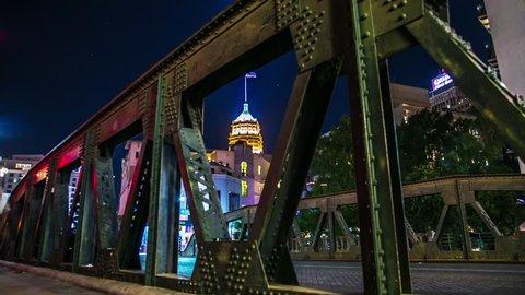 San Antonio Bridge City Motion Controlled Timelapse