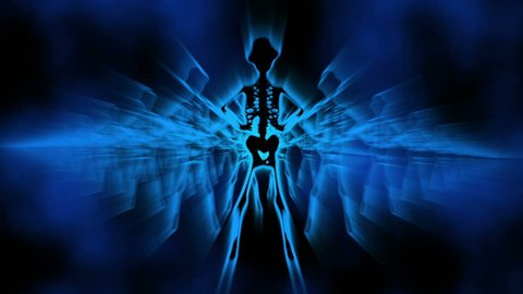 Silhouette of Sexy Female Skeletons VJ dancing background, disco vj color background. Suitable for LED screen background animation. VJ LOOP. Quicktime MOV/PhotoJPEG Version 4
