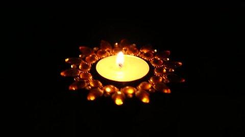 rotating Christmas and diwali candle