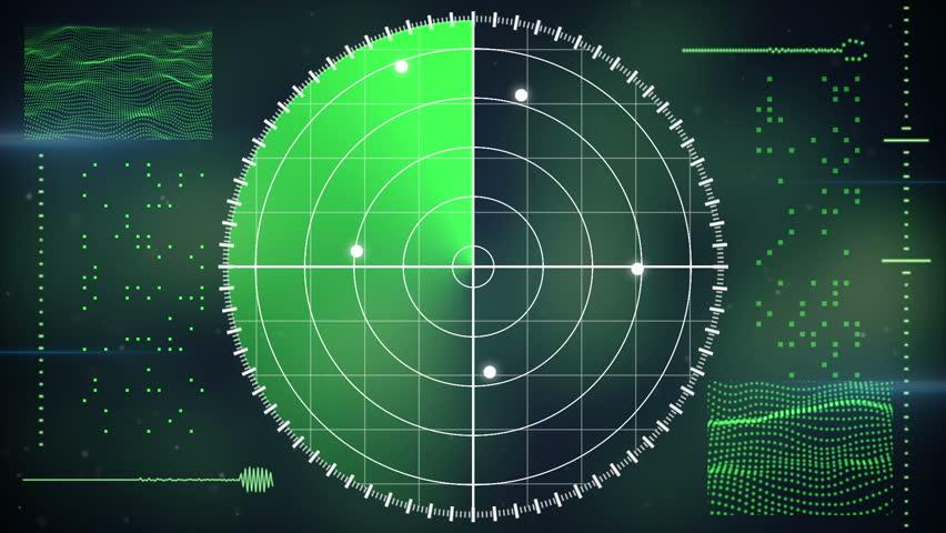 Radar screen. computer generated seamless loop technology motion background    Shutterstock HD Video #7659550