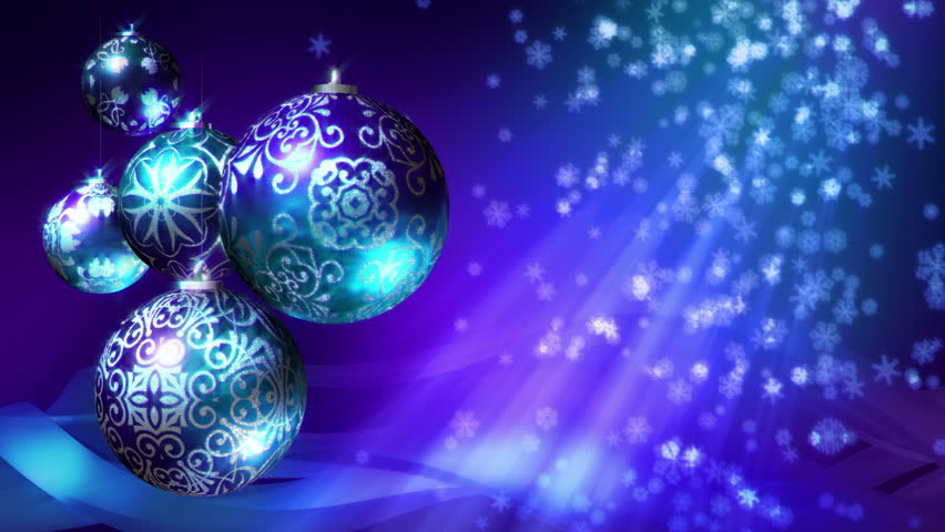 Christmas Background Loop. Rotating Christmas Decorations And ...