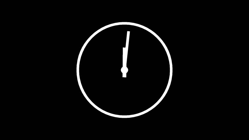 Motion background with spinning clock in 12 hour seamless loop . (Full HD, 1920x1080 24sec/30fps).   Shutterstock HD Video #7668760