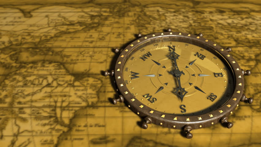 Vintage antique pocket watch on ancient world map in 1565 stock background with old map and compass compass 01 hd motion background with gumiabroncs Image collections