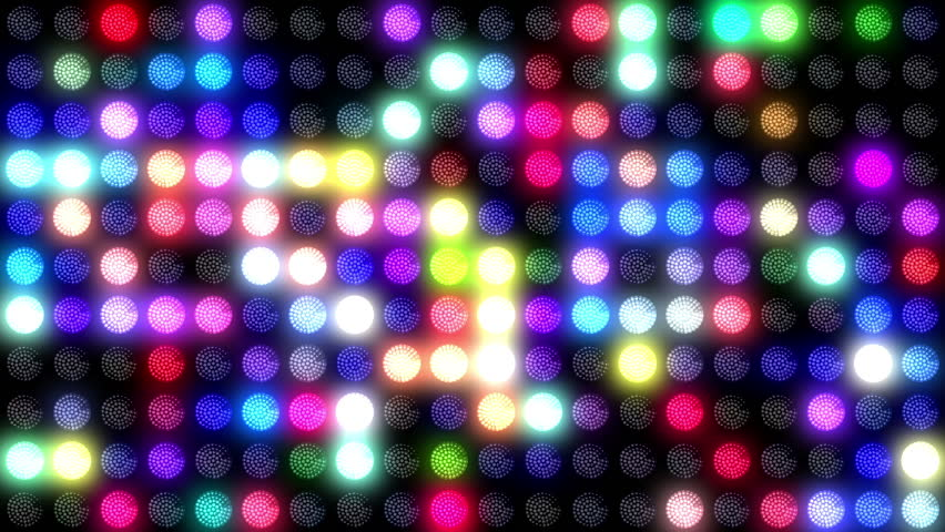 Disco LEDs wall lights seamless motion graphics footage for music videos, backstages, screens, openers, logos, shows, projection mapping, VJ sets, mixes, visuals, DJs, night clubs.