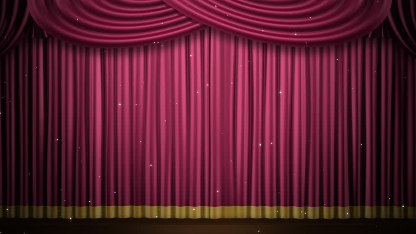 Theater Curtain Stage Stock Footage Video 784933