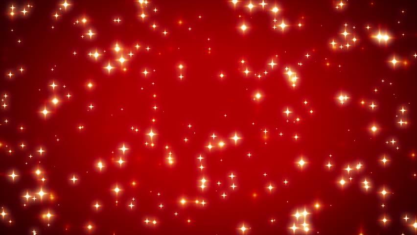 Red Stars Background Warm Sparkling Red Sta...