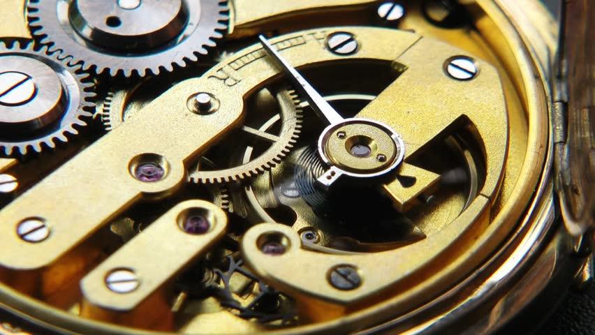 Golden Watch Mechanism - closeup video