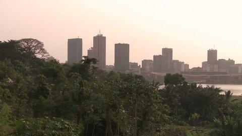 Abidjan - Ivory Coast capital. Panorama.