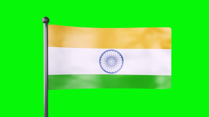 Indian Flag Animated: Seamless Looping High Definition Video Of The Indian Flag