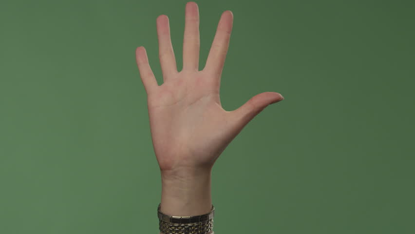 Hand and fingers close-up on background | Shutterstock HD Video #7940800
