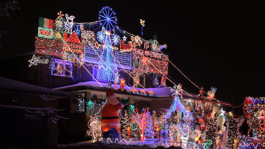 visually similar footage - Best Christmas Decorated Houses