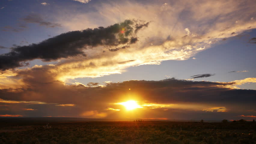 Sunset in New Mexico 01 Time Lapse | Shutterstock HD Video #8012620