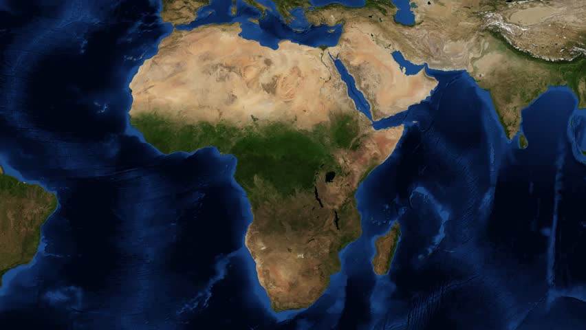 Stock Video Clip of East Africa from space zoom East Africa or