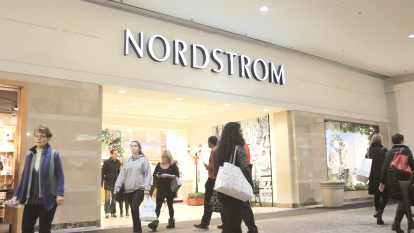 PROVIDENCE, RI - NOV 29: Nordstrom retail store open for business on November 29, 2014. Nordstrom began as a shoe retailer and has expanded to clothing, handbags, jewelry, cosmetics, and fragrances.