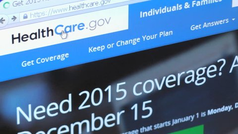 NEW YORK - DEC 9: Browsing Obamacare Health Care Insurance website on December 9, 2014. Healthcare.gov is the website for the government marketplace for the Affordable Care Act.
