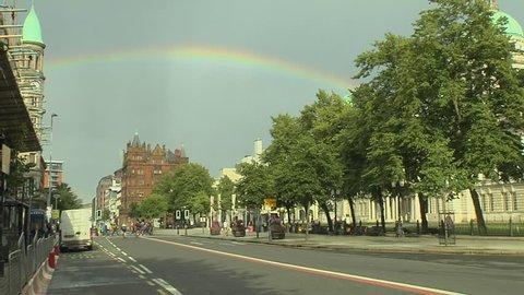 Rainbow in Sky in Belfast, Northern Ireland