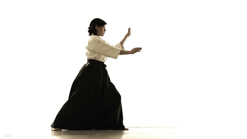 woman engaged in tai chi chuan 1